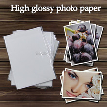 115g Trade assurance offer free sample factory supply High glossy waterproof sample size 4r photo paper