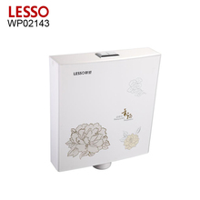 LESSO WP02143 siphon jet flushing hand control gravity flushing push button toilet cistern toilet water tank plastic cistern