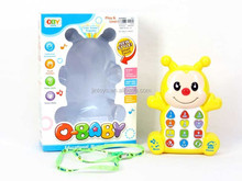 New style plastic bee educational music phone kids toy cell phone with EN71 AL016854
