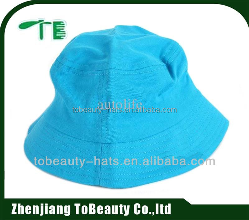 Blue embroidered sublimation witty bucket hat for adult