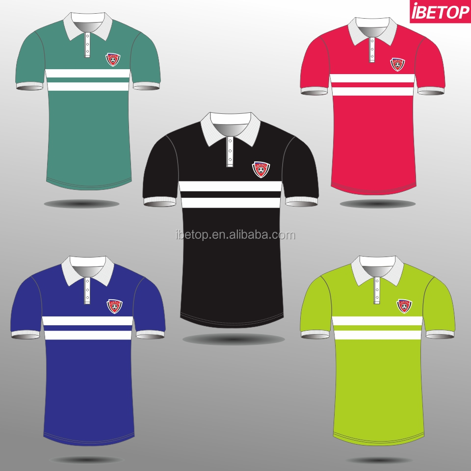 Wholesale quick dry colorful polo shirt, custom children golf wear for men in high quality