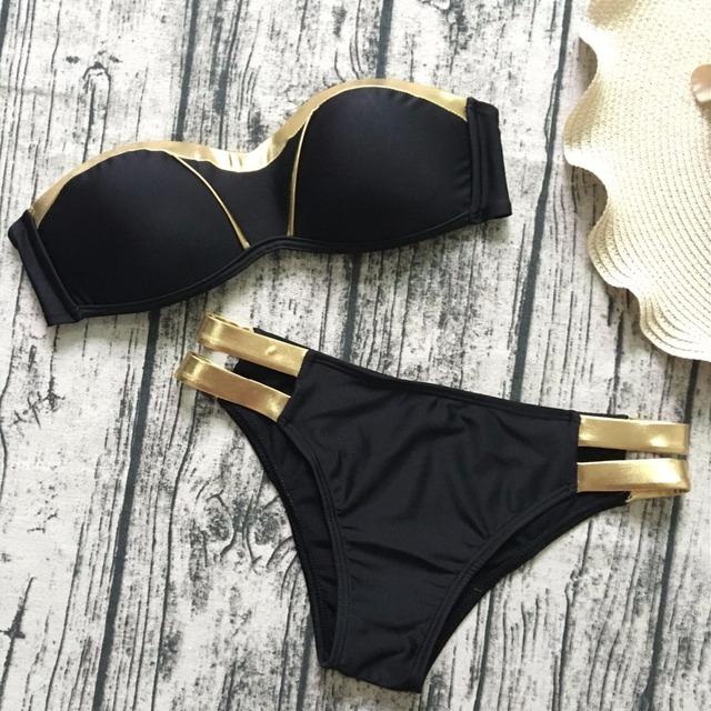 Black brazilian push up open full sexy bikini swimwear photos women bathing suit 2018
