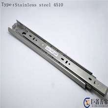 2017 hot sell 3 fold 4 ball bearing drawer slide telescopic cabinet channel