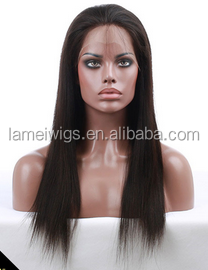 SL0030 NEWLOOK Popular Hot sale Wholesale Malaysian Virgin Hair for Women light Yaki Wigs full lace wigs Sexy Light brown wigs