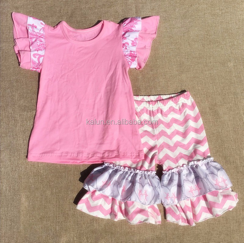 kL-OF-046 children clothing manufacturers china 2016 fall girls boutique clothing kids wear wholesale outfit