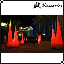 3m height inflatable pillars inflatable led lighting tip cone for outdoor decoration