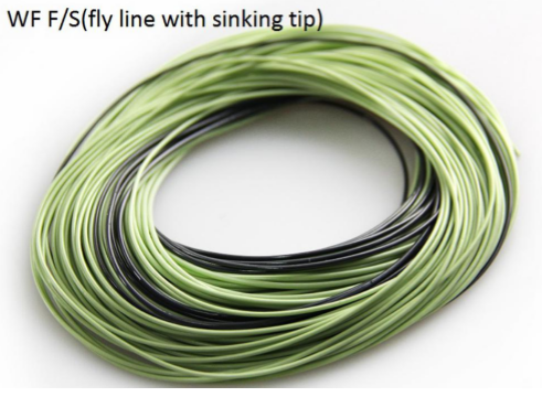 high quality WF (F/S) fly fishing line with sinking tip