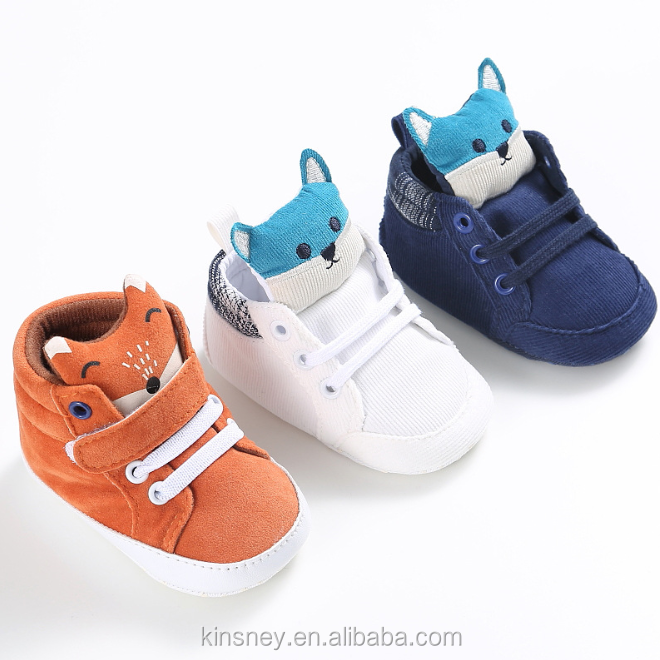 KS10176S New Autumn Collection Baby Cute Cartoon Pattern Baby High Neck Shoes