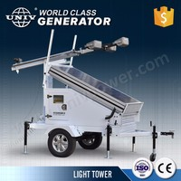 8kW Movable Diesel Generator Set with Light Tower