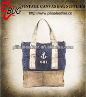Latest Vintage Washed Tote Bags/Canvas Handbags/Canvas Shopper Bag