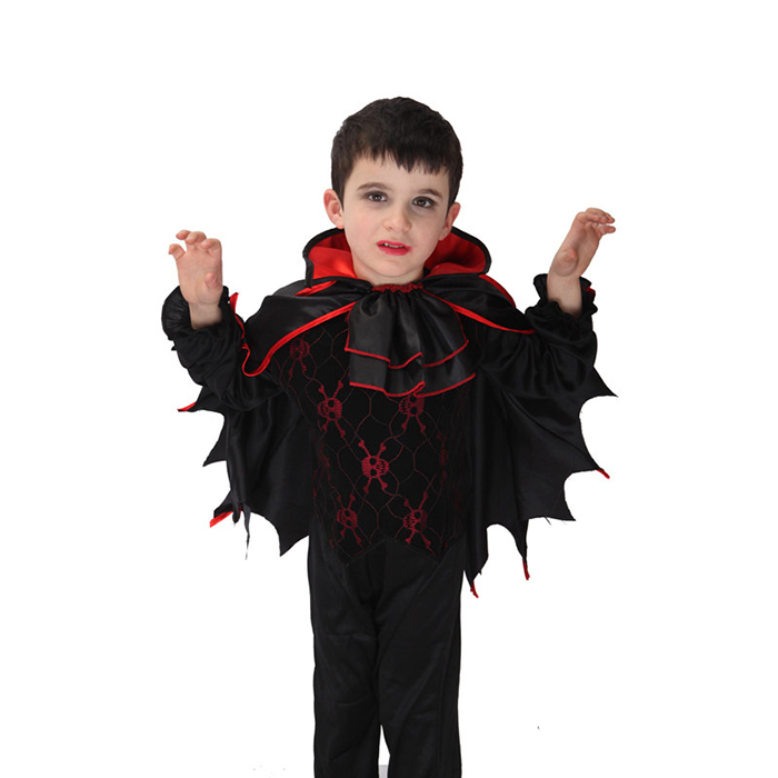 High Quality Children Boy Polyester Party Vampire Cosplay Costumes