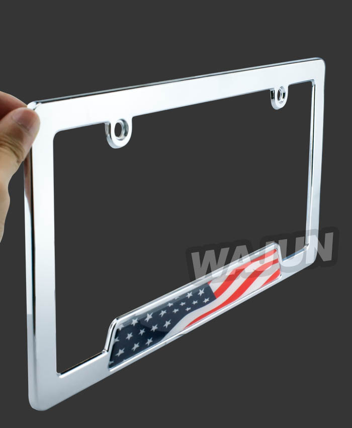 Custom high quality car license plate frame American metal license plate holder