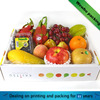 Wholesale custom corrugated board fruit package box for mango/watermelon/lemon/cherry packing