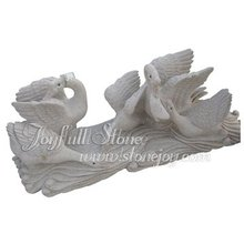 Granite Carving, stone animal sculptures, swan sculpture