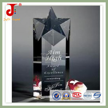 hot sales new design star souvenir crystal trophy award (JB-021)