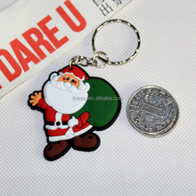 Fast delivery rubber christmas key chain holder for gift