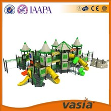 Newest design children green castle outdoor playground naughty castle