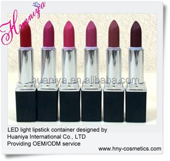custom color led lipstick with mirror