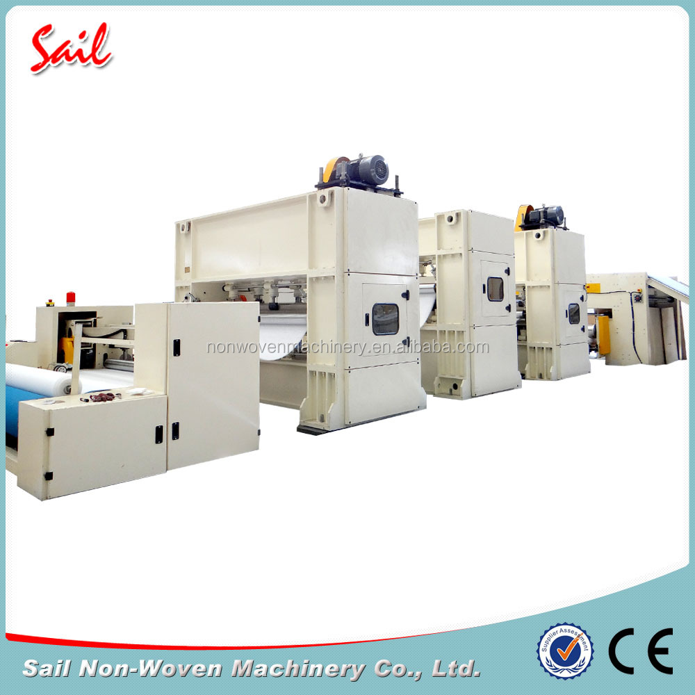 Cost Effective synthetic leather base cloth production line/nonwoven needle punched machine/geotextile needle punch machine