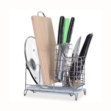 Stainless steel kitchen utensil rack holder spoon fork knife storage