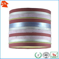 Indian unusual industrial lighting metal clips colorful pendant lampshade