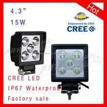 15w 4.3inch 1380lm 9-32v dc 1.0A@12V 0.4A@24V IP67 Waterproof 12v 24v led boat lights