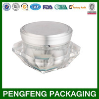 Diamond jar for cosmetic packaging 5-50g