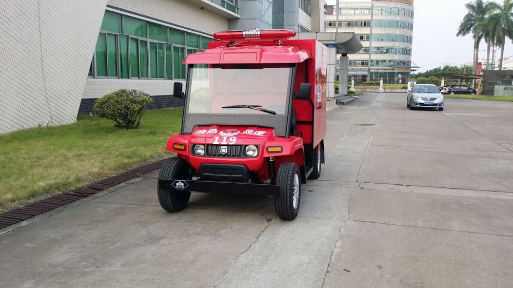 Chinese quality assured 4 wheeler utility battery operated fire fighting car