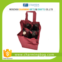 Recyclable Non Woven Material 4 Bottle/2 Bottle/1 Bottle Wine Bag