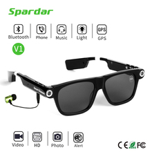 Mini DVR Video Recorder MP3 Bluetooth Sunglasses Camera for Driver
