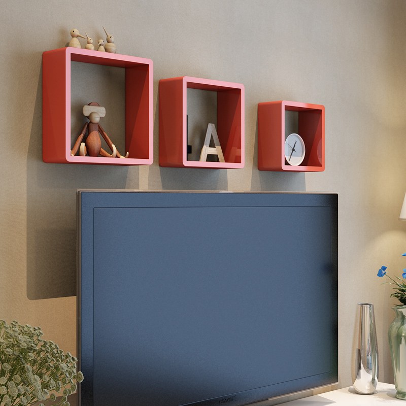 Mdf Wooden Floating Wall Cubes Shelf Shelves Display Storage Unit