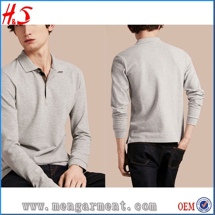 Low Shipping Rates From China To USA Clothing Manufacturers Overseas Wholesale Men Fashion Polo Shirt Long Sleeve