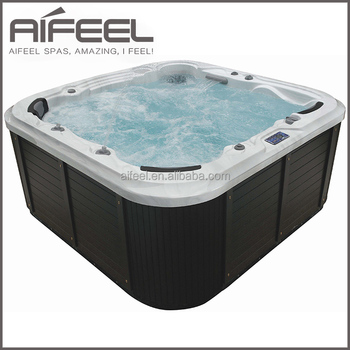 Aifeel luxury outdoor acrylic portable freestanding corner whirlpool massage 6 person hot tub with tv