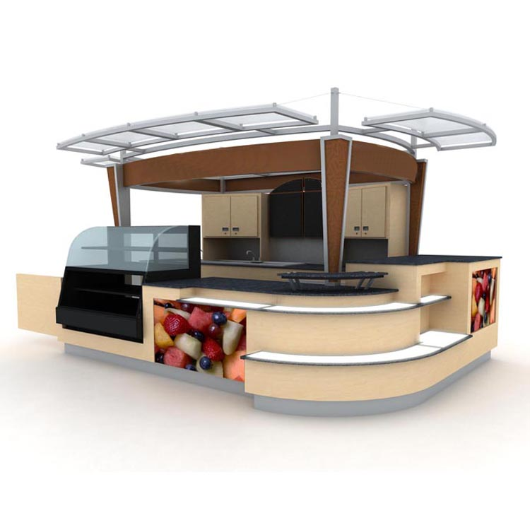 modern design wooden food kiosk for coffee booth