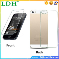 2pcs/lot Front + Back for iphone 5 tempered glass for iphone 5S screen protector glass capa For Apple iPhone 5 case 0.3mm