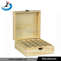 Handmade natural wood unfinished essential oil wood box for sale
