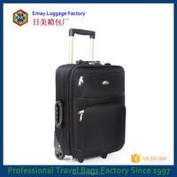 China Factory Polyester Trolley Luggage Travel Bags