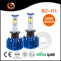 led headlight conversion kit B2 h1 30W 3200lm COB super bright cooling fan