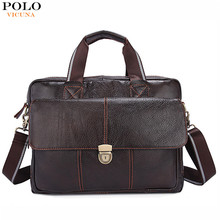 VICUNA POLO 2017 New Arrival Mens Briefcase Wholesale Guangzhou Business Portable Messenger Bag Leather Hand Laptop Computer Bag