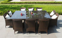 TX-R37 Cheap Price Rattan Furniture 10 Seats Patio Dining Sets