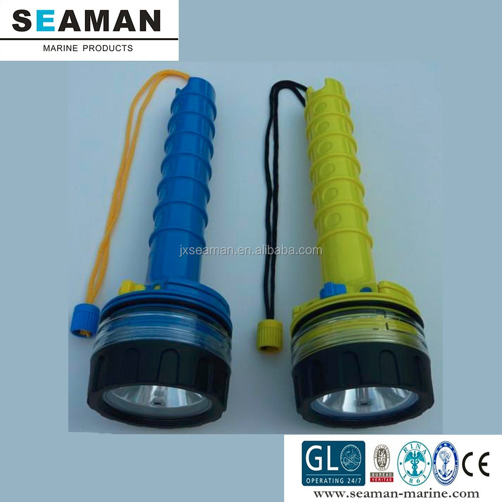 50 m water proof led underwater torch for skin diving & boat