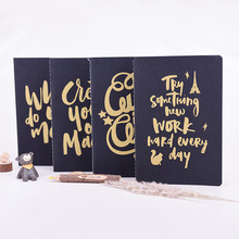 2016 New Design Languo Style Inspiration Words Design 1C color Pirnted A5 Sewing Notebook LG-9337