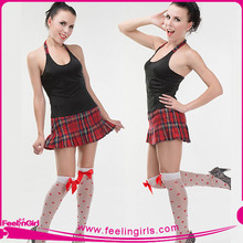Wholesale Stylish Sexy Halter Private School Sexy Girls Costume