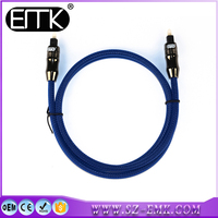 1.8m blue Toslink audio cable optical fiber toslink cable
