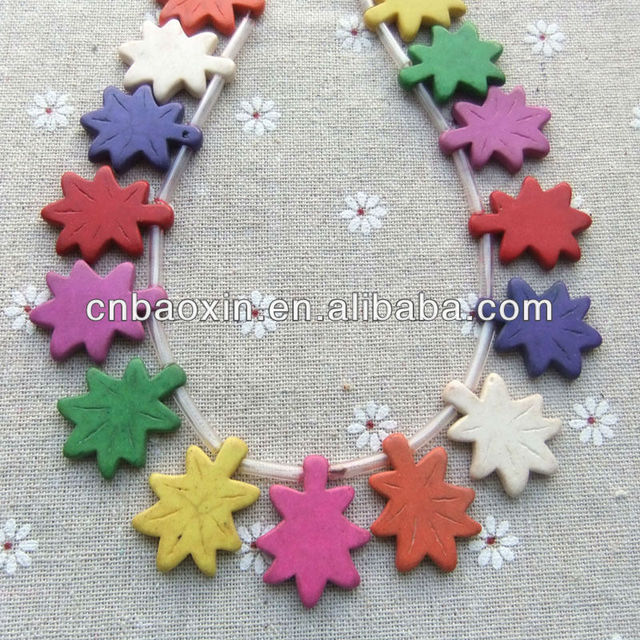 New Fashion Jewelry Stone Beads Colorful Plastic Star Beads