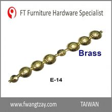 Made In Taiwan Length: 1M x Nail's dia: 12mm Brass Classical Furniture Metal Sofa Staple Nail