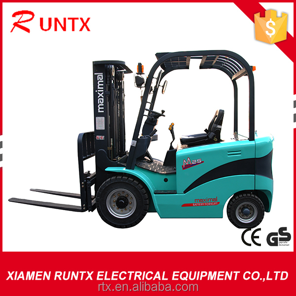 2500kg four wheeler electric forklift