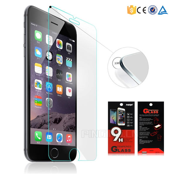 9h Super hardness hd clear tempered glass screen guard for iphone 6 plus / 6s plus protector film