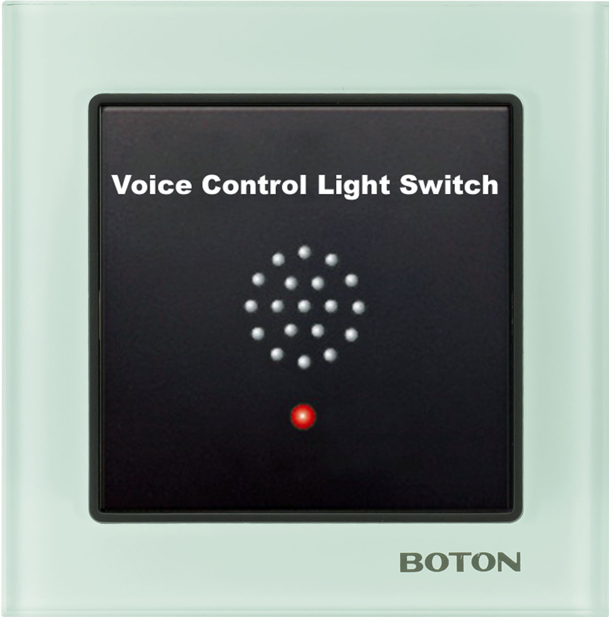 Modern tempered glass hotel voice control light switch
