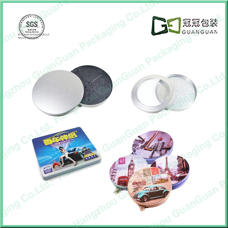 funny tin cd case with handle hot sale custom box for DVD